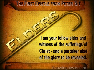 1 Peter 5:1 Exhortation To The Elders (brown)